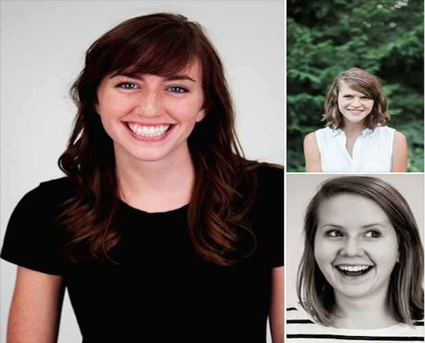 """The """"After the Fall"""" reporting team (clockwise starting on left): Jessica Contrera, Anna Teeter and Emma Grdina."""